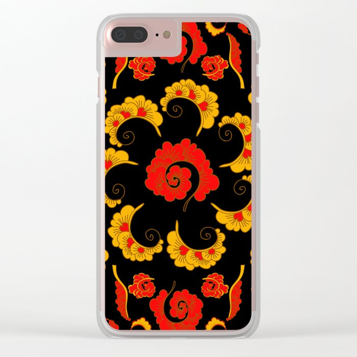Traditional russian folk Clear iPhone Case