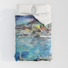Lovis Corinth - Lake Lucerne in the morning - Digital Remastered Edition Comforters