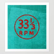 33 & a third RPM Circle Art Print