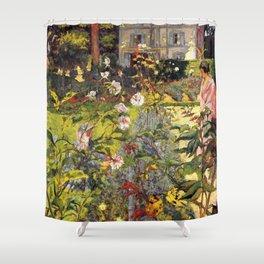 12,000pixel-500dpi - Edouard Vuillard - Garden Of Vaucresson - Digital Remastered Edition Shower Curtain