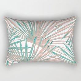 Tropical Fan Palm Leaves #8 #tropical #decor #art #society6 Rectangular Pillow