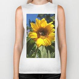 Bee on sunflower Biker Tank