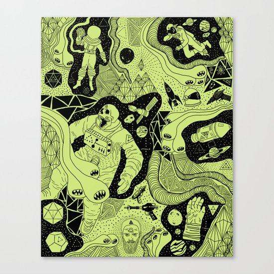 Cosmic Atomic  Canvas Print