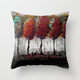 Acrylic Fall forest Throw Pillow