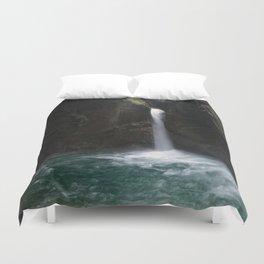 Slap Kozjak Waterfall Duvet Cover