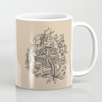 "not all who wander are lost Mugs featuring ""Not all those who wander are lost"" by Rose24601"