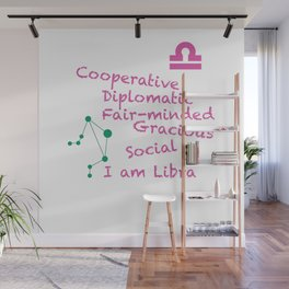 Zodiac Sign Libra Wall Mural