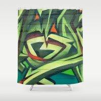 frames Shower Curtains featuring Graffiti Frames by Maccio