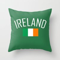 ruben ireland Throw Pillows featuring Ireland by Earl of Grey