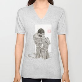 Lovers by the Window Unisex V-Neck