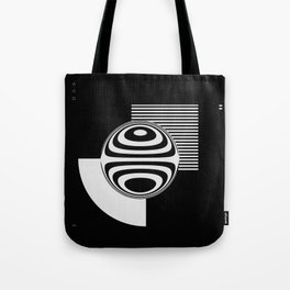 Experimentation with vector design on sphere glass reflection, 3D ambient. Version B. WB. Tote Bag