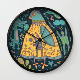 Chatty Yellow Bird Wall Clock