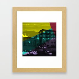 Digital Color Collage, 1 Framed Art Print