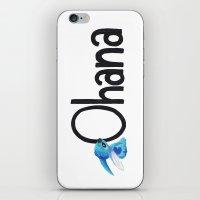ohana iPhone & iPod Skins featuring OHANA by marcsaisofficial