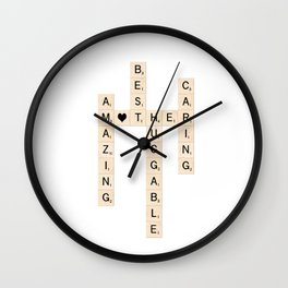 MOTHER's Day Scrabble Art Gift Wall Clock