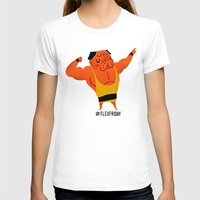 friday T-shirts featuring Flex Friday by Huebucket
