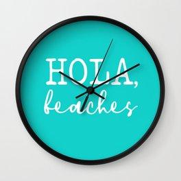 Hola Beaches Wall Clock