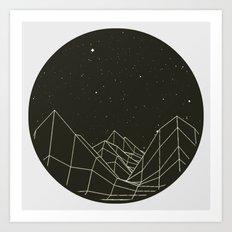 Night circles Art Print