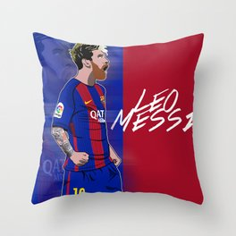Messi Throw Pillow