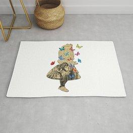 Alice In Wonderland - Vintage Wonderland Book Rug