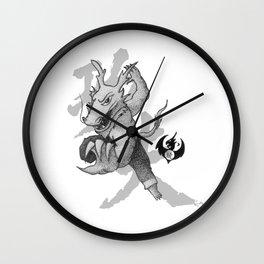 KungFu Zodiac - Dragon Wall Clock