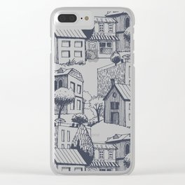Hand drawing Houses Clear iPhone Case