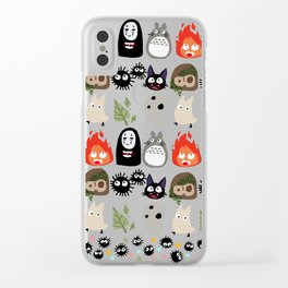 Wall of Ghibli Clear iPhone Case