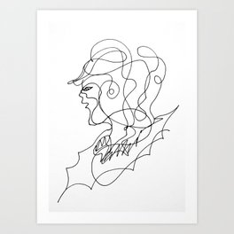 Sketching portraits Art Print