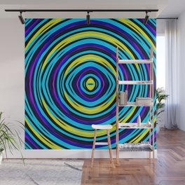 blue pink yellow circle pattern abstract background Wall Mural