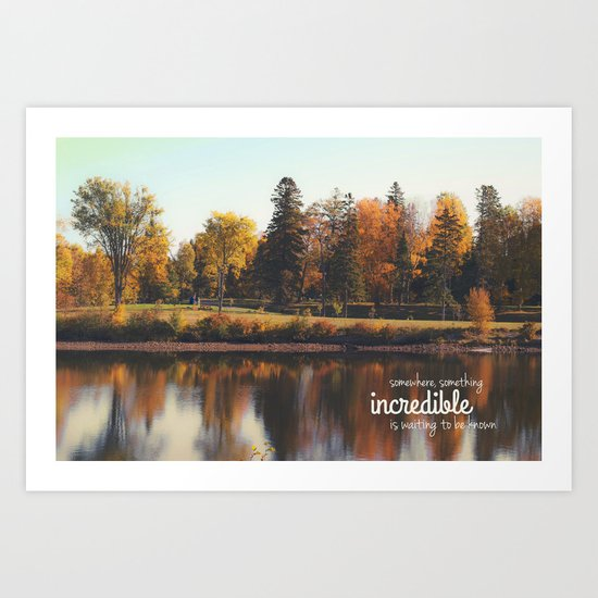 something incredible. Art Print