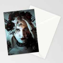 Darkness befalls me and fire and ashes surrounds me Stationery Cards