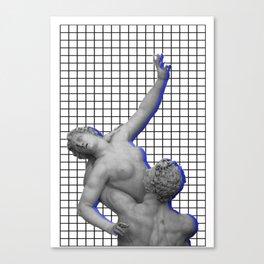 Vaporwave Roman Statues Canvas Print