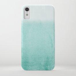 FADING AQUA iPhone Case