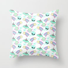 In Space You're Adorable Throw Pillow