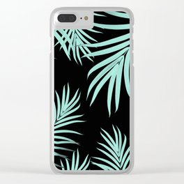 Palm Leaves Pattern Summer Vibes #6 #tropical #decor #art #society6 Clear iPhone Case