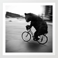 Biker Road Art Print