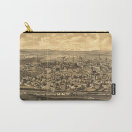 Vintage Pictorial Map of Paterson NJ (1880) Carry-All Pouch