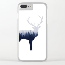 Forest Stag Clear iPhone Case