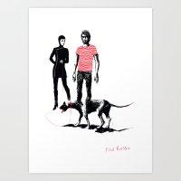 Filo Rosso Art Print