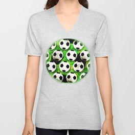 Soccer Ball Football Pattern Unisex V-Neck