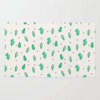 cactus Area & Throw Rugs featuring CACTUS by Ceren Aksu Dikenci