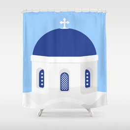 Santorini #02 Shower Curtain