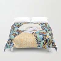 youtube Duvet Covers featuring Emilia by Sofia Bonati