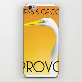 Turks Crane iPhone Skin