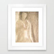 The Lady in Grey Framed Art Print