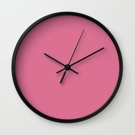 Pale Red-Violet - solid color Wall Clock