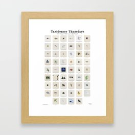 Taxidermy Thursdays: 52 Weeks of Wildlife Watercolor Paintings Framed Art Print