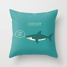 Sharkasm Throw Pillow