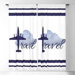 Travel illustration Blackout Curtain