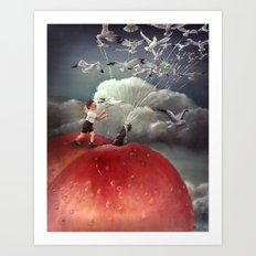 Climbing towards the heavens - From James and the Giant Peach - By Roland Dahl Art Print